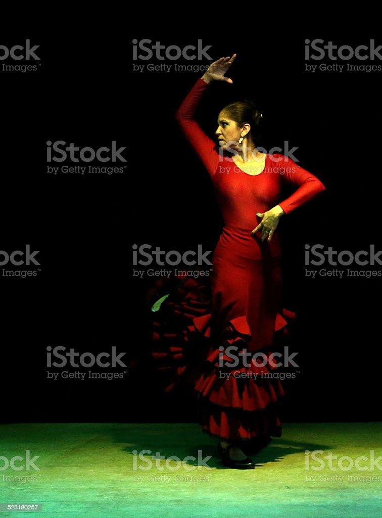 Female flamenco dancer royalty-free stock photo