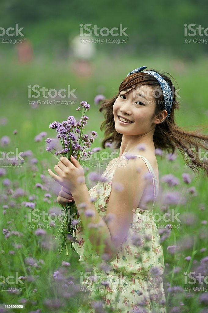 Female flowers royalty-free stock photo
