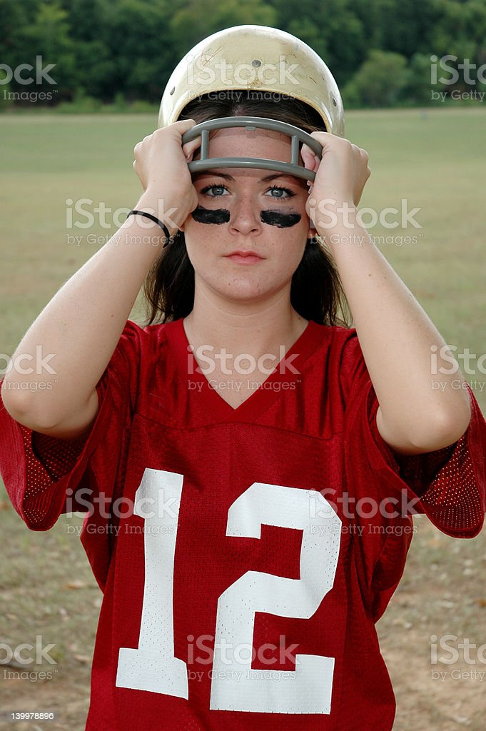 Female Football Player stock photo