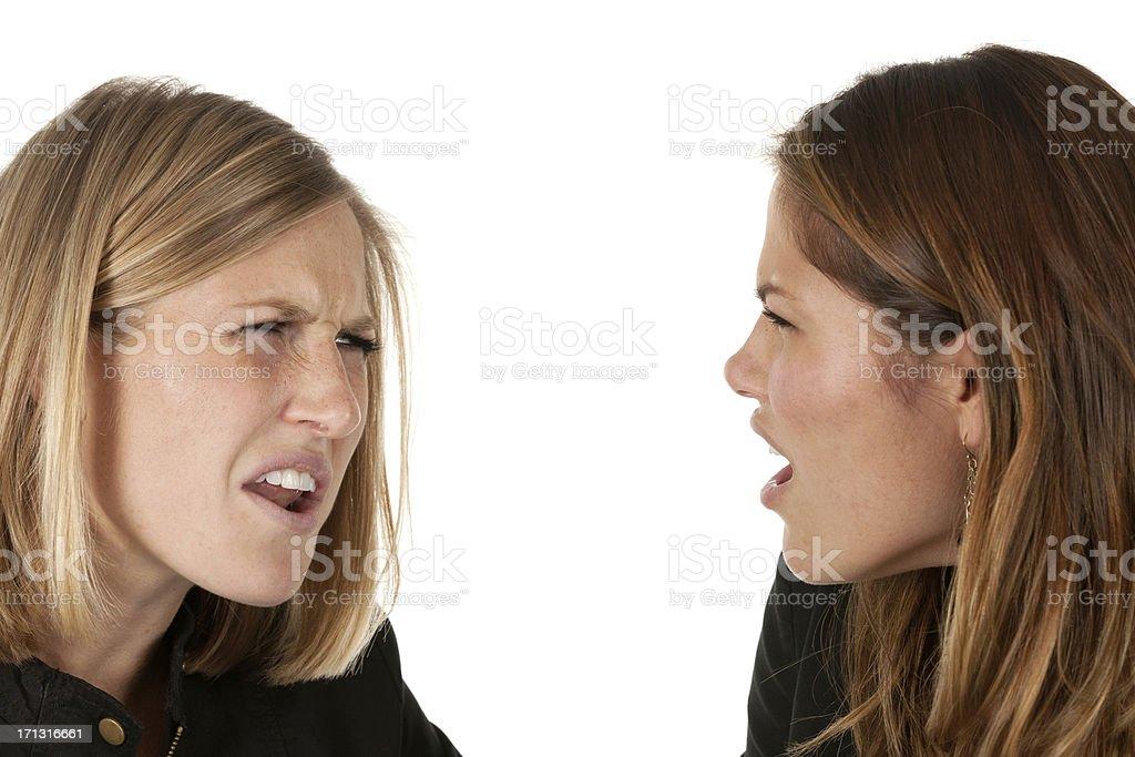 Female friends arguing royalty-free stock photo