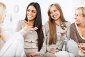 Female friends communicating.