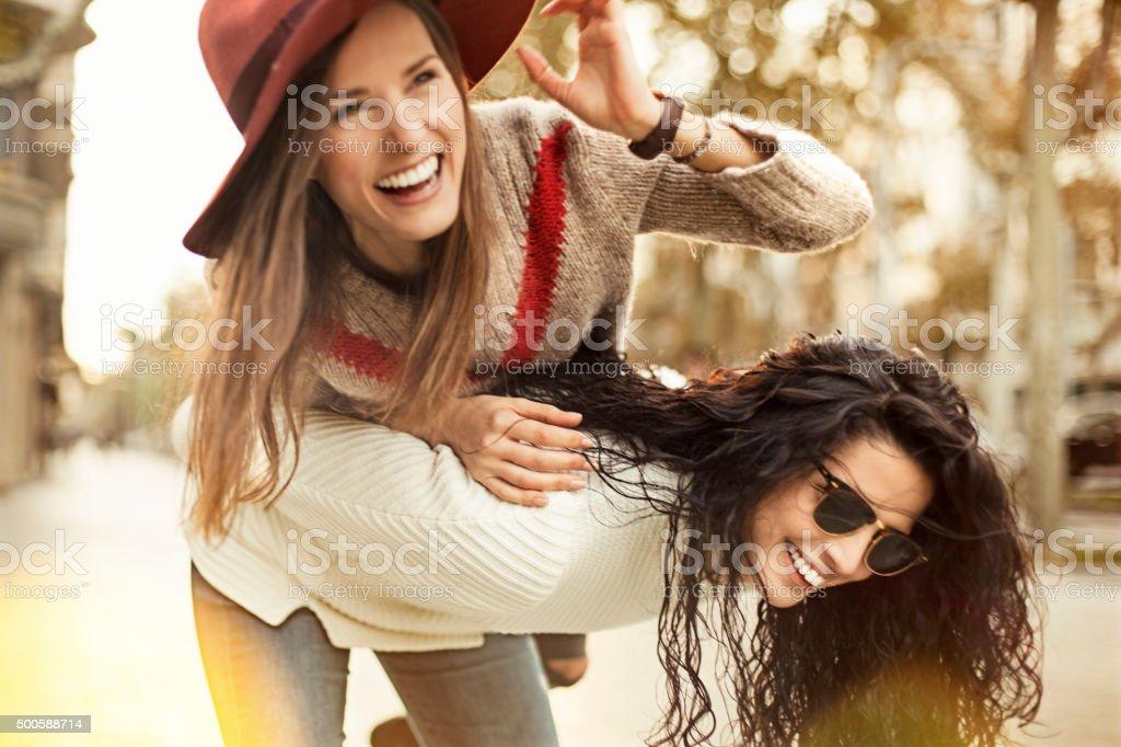 Female Friends Have Fun stock photo