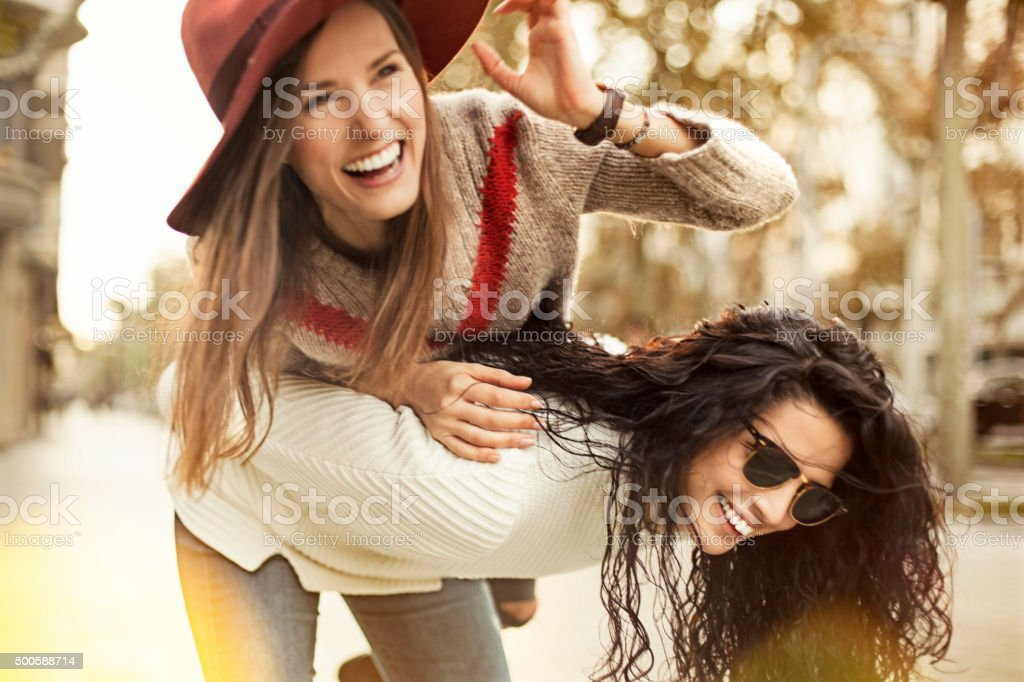 Female Friends Have Fun stock photo