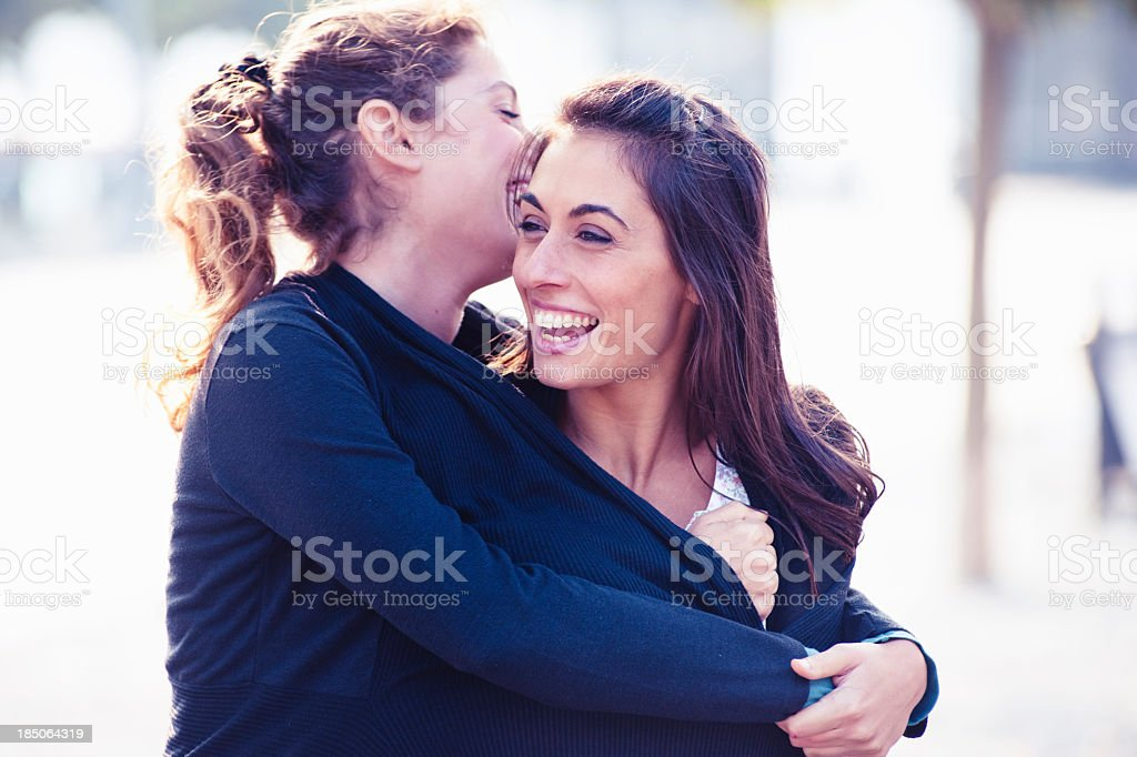 Female friends looking forward royalty-free stock photo