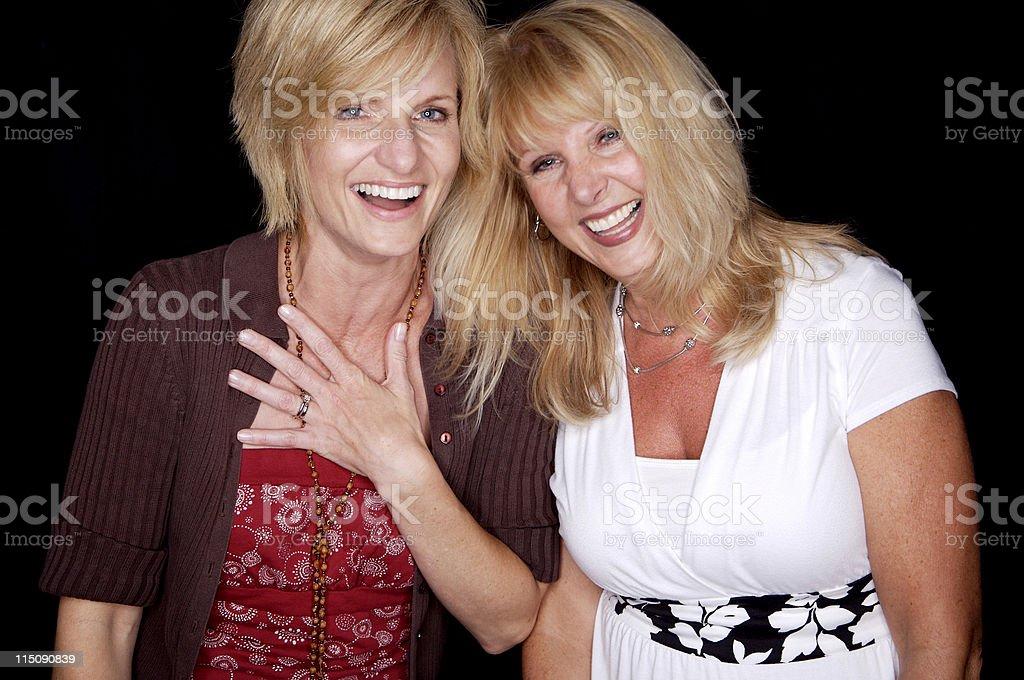 female friends portrait royalty-free stock photo