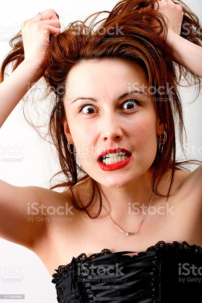 Female fury royalty-free stock photo