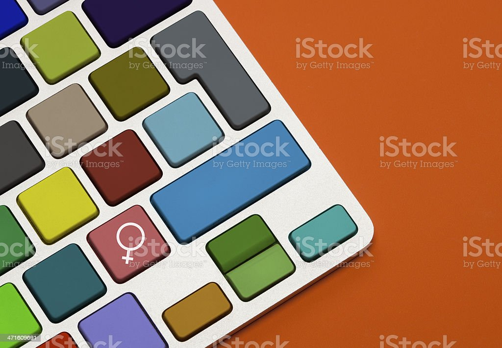 Female Gender Sign on Keyboard royalty-free stock photo