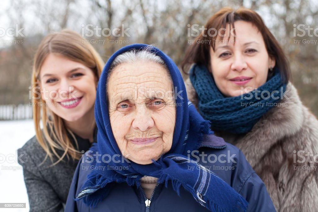Female generations outdoor stock photo