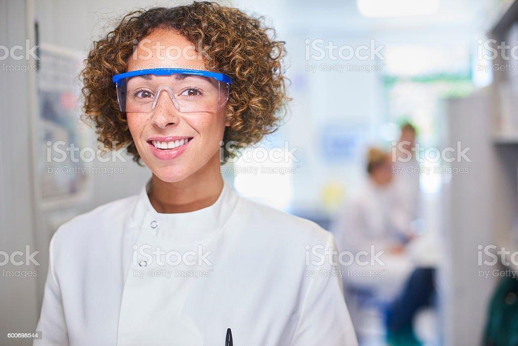 female genetic researcher stock photo