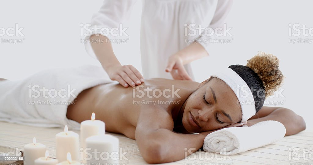 Female Getting A Massage stock photo