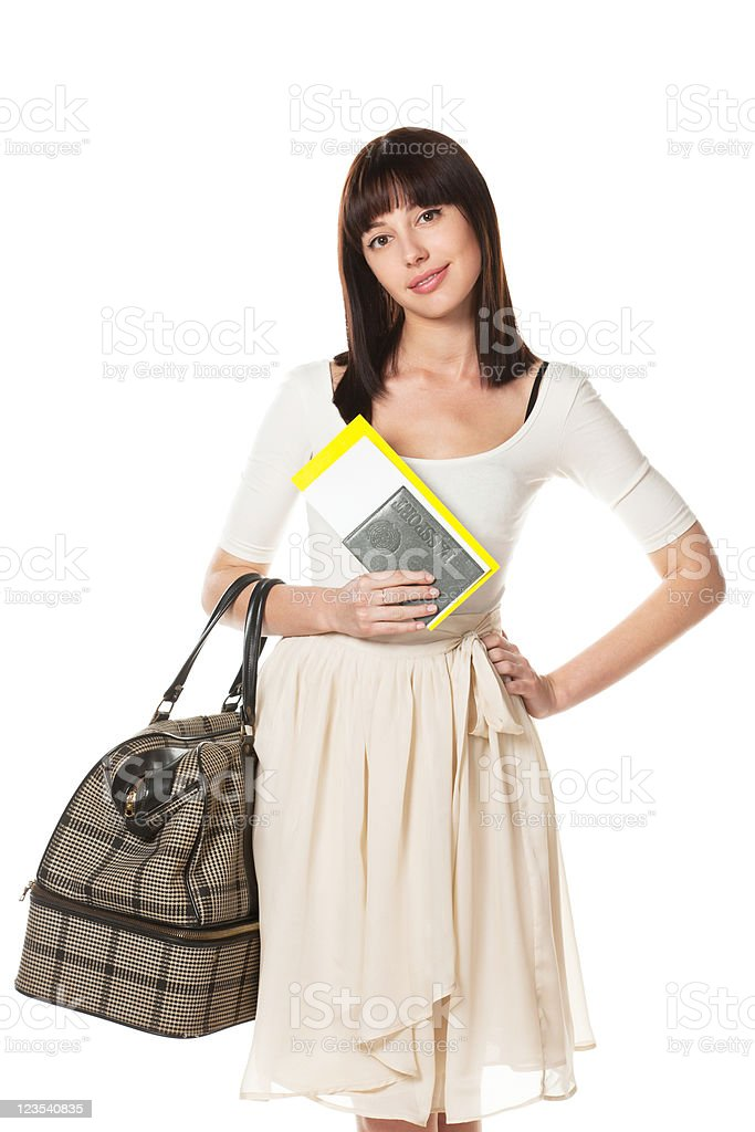 Female going to vacations royalty-free stock photo