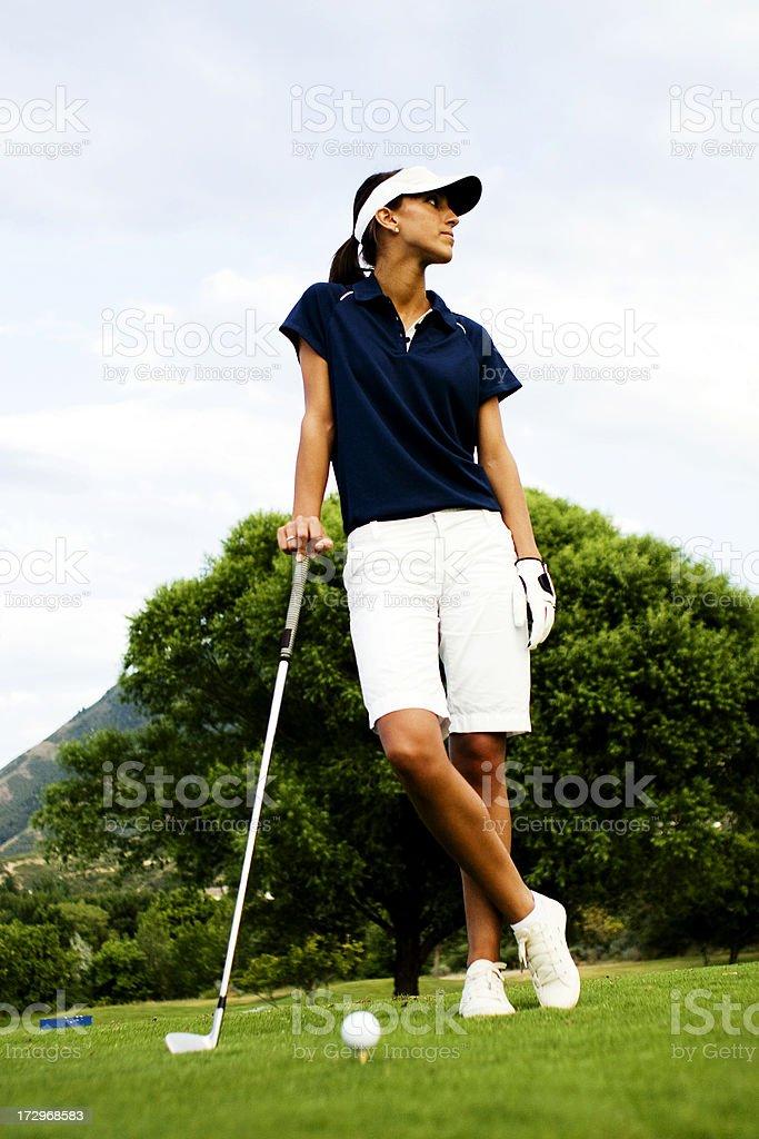 Female Golfer Portrait royalty-free stock photo