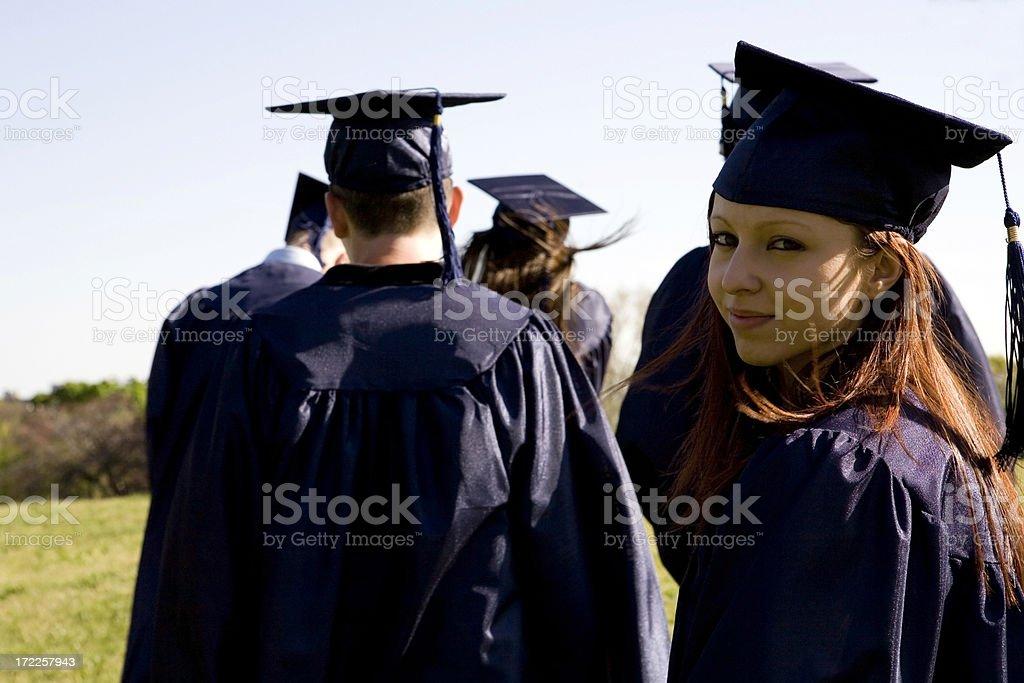 Female graduate outdoor royalty-free stock photo