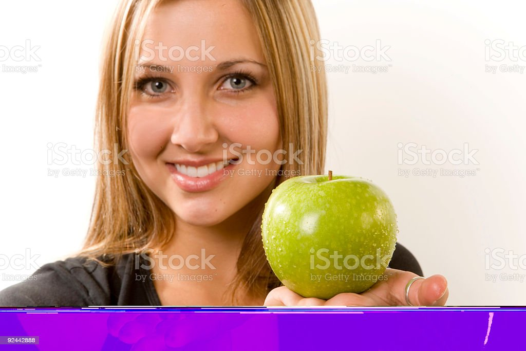 Female / Granny Smith Apple royalty-free stock photo