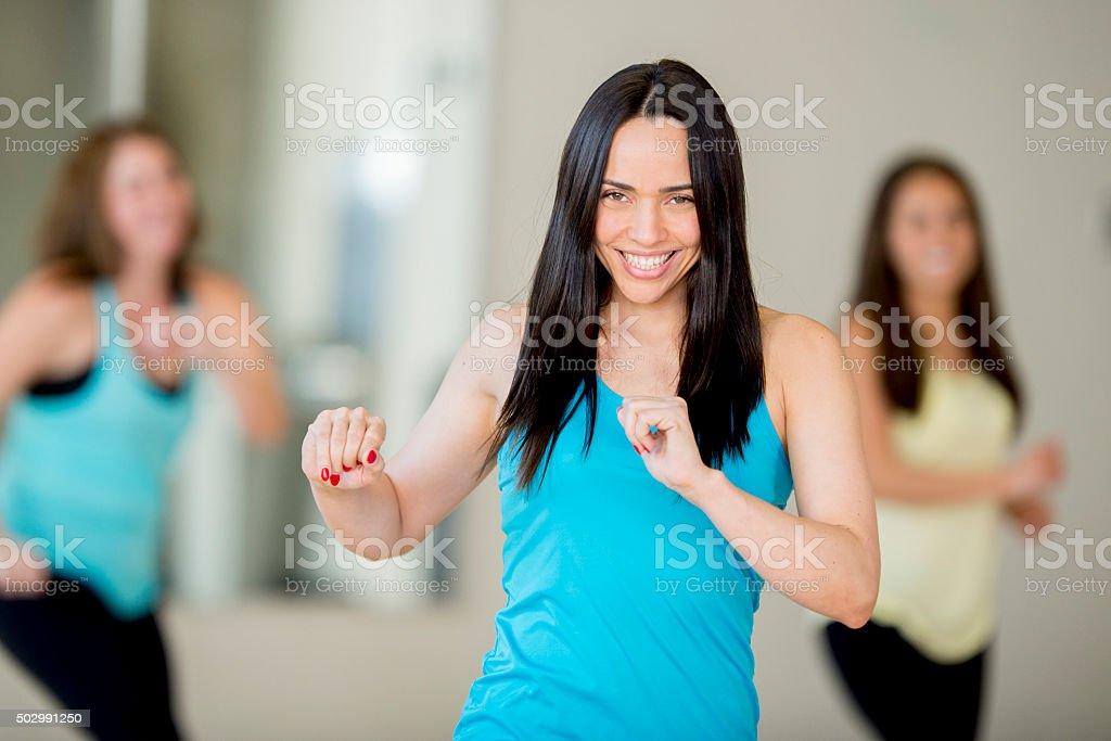 Female Group Dance Lesson stock photo