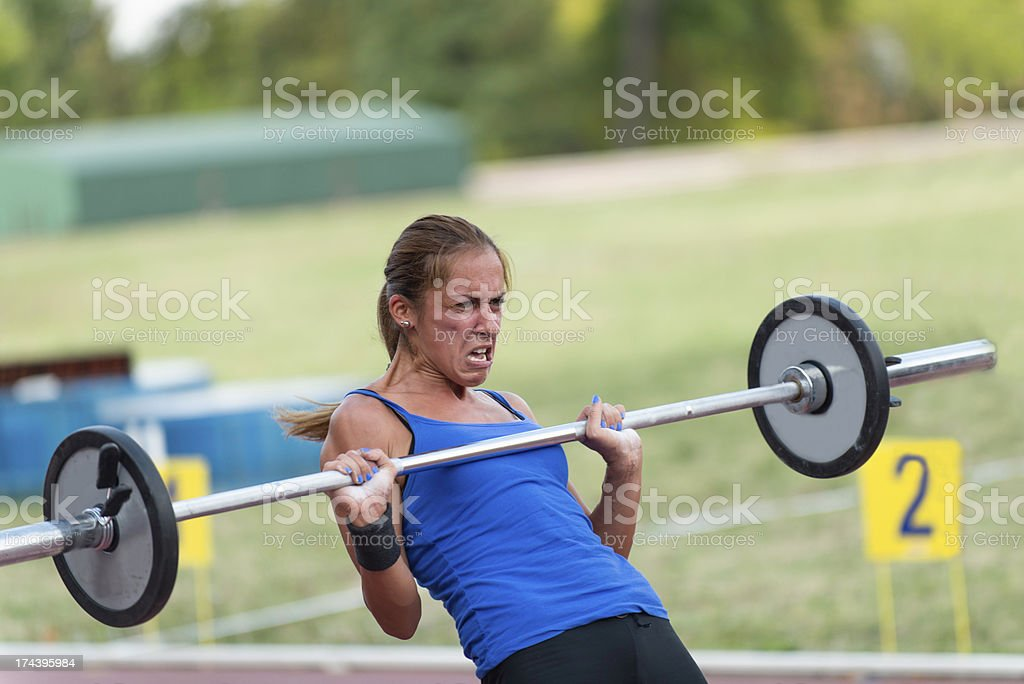 Female gym competitor royalty-free stock photo
