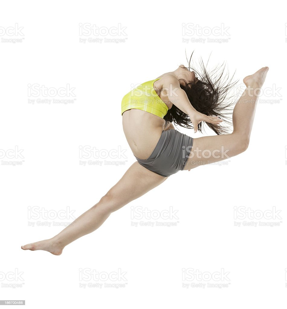 Female gymnast in action royalty-free stock photo