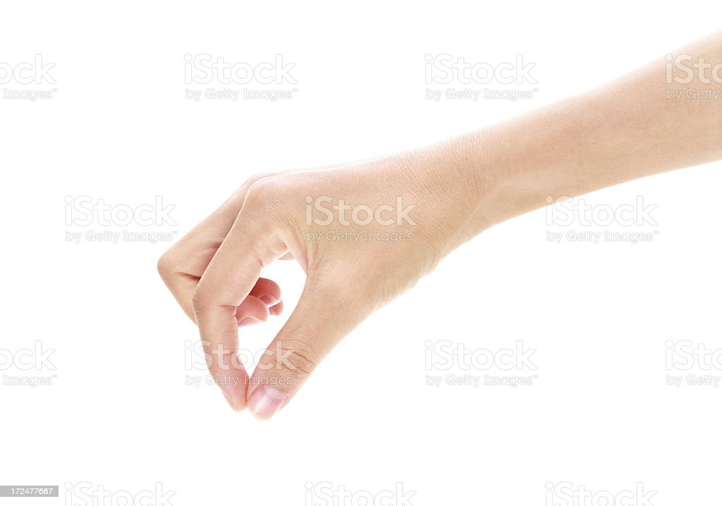 Female hand against a white background royalty-free stock photo