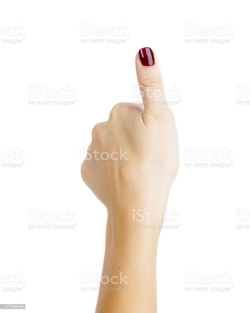 female hand and finger royalty-free stock photo