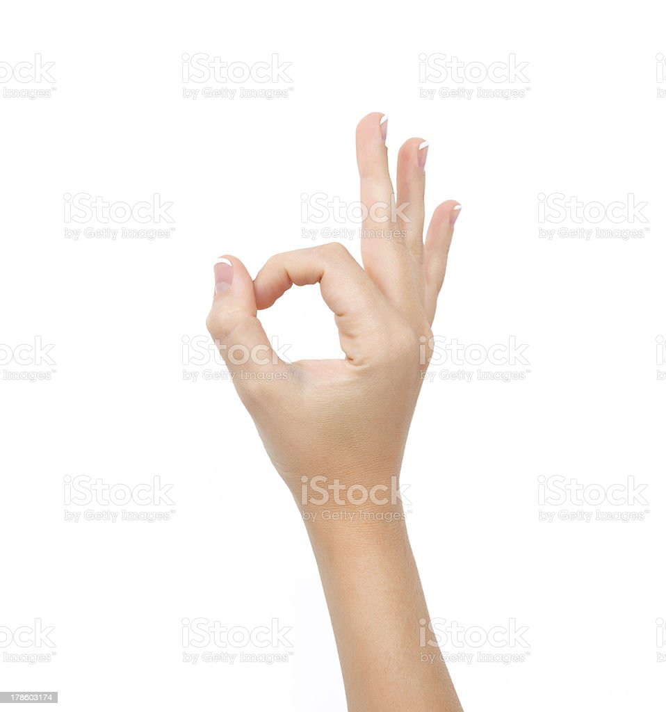 female hand on the isolated background royalty-free stock photo