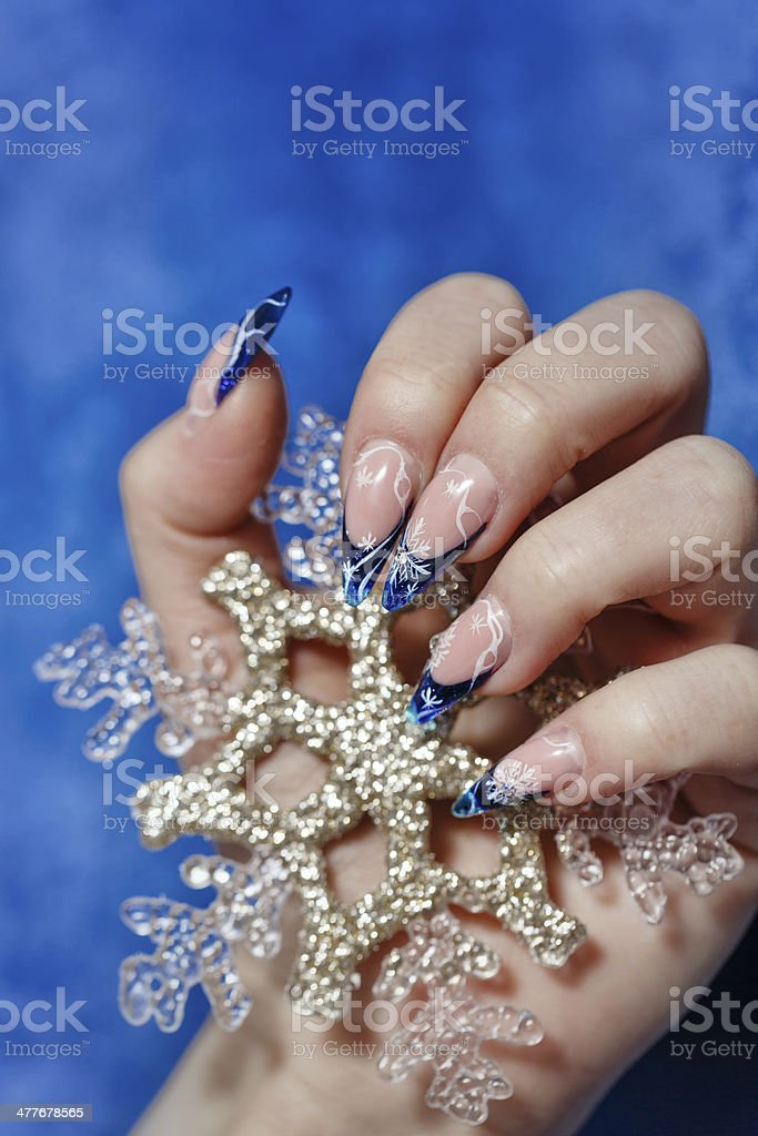 Female hand with manicure royalty-free stock photo