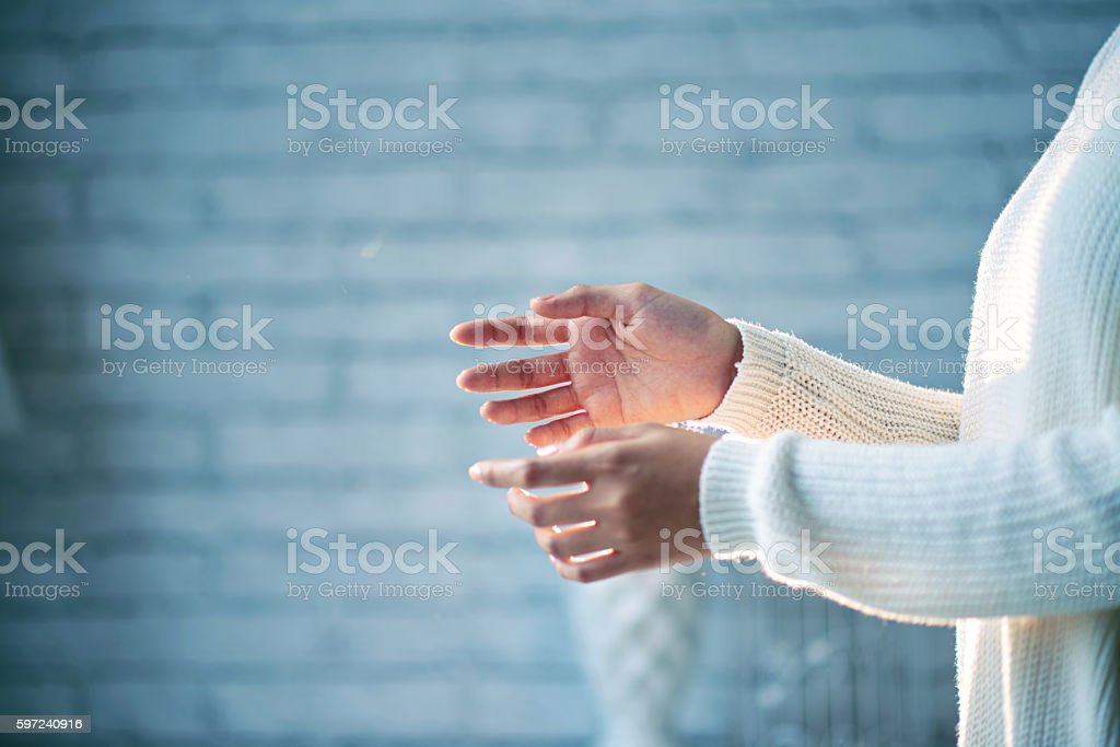 Female hands stock photo