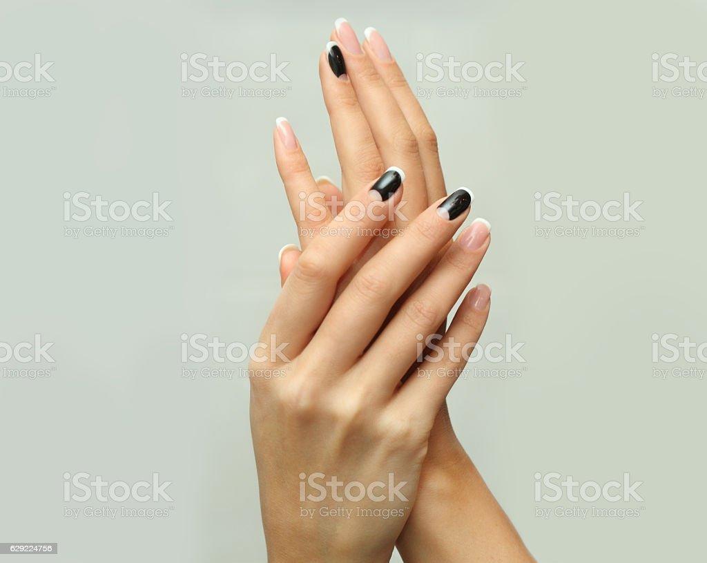 Female hands stock photo