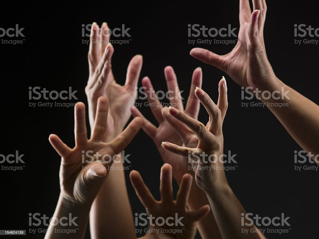 Female hands reaching out royalty-free stock photo