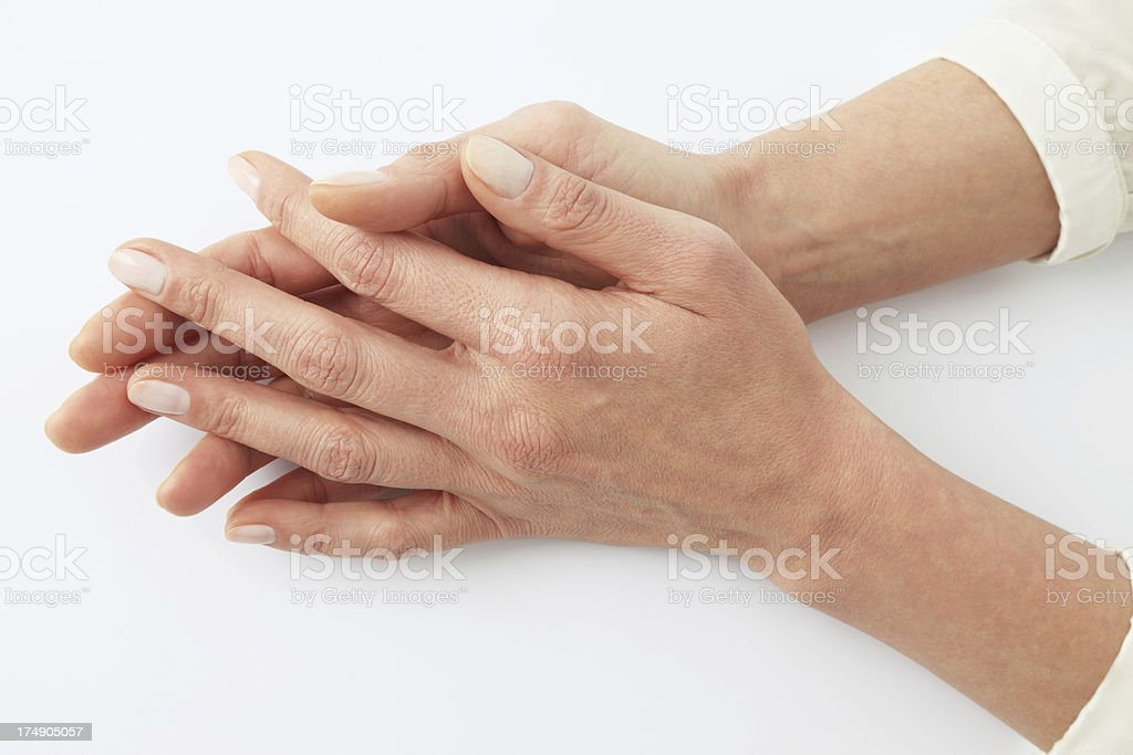 female hands resting royalty-free stock photo