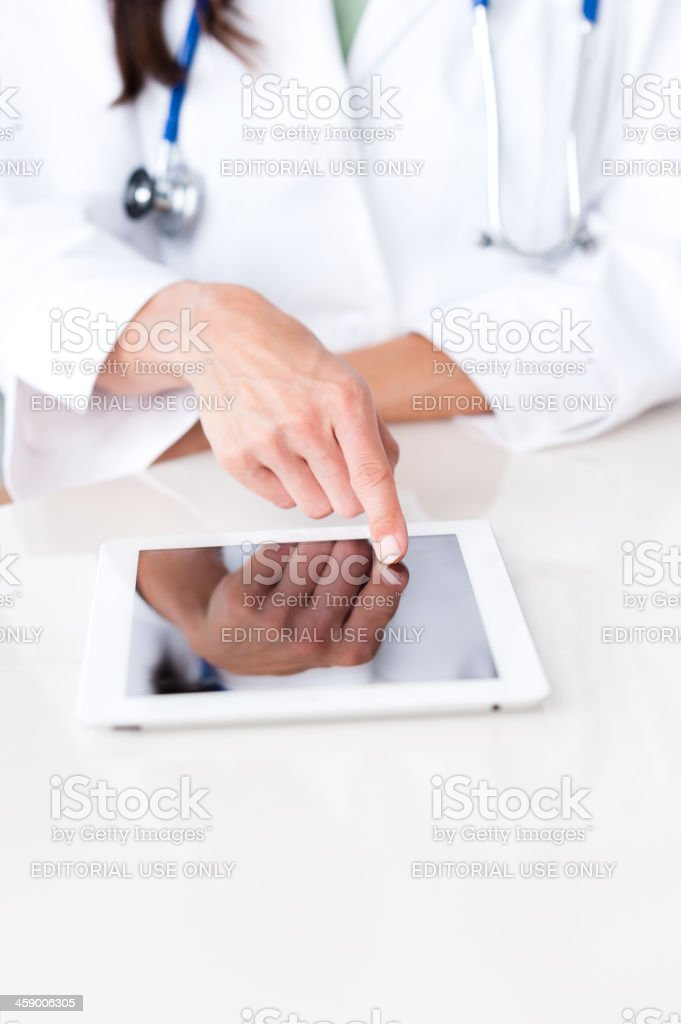 Female Health Care Worker with New iPad royalty-free stock photo