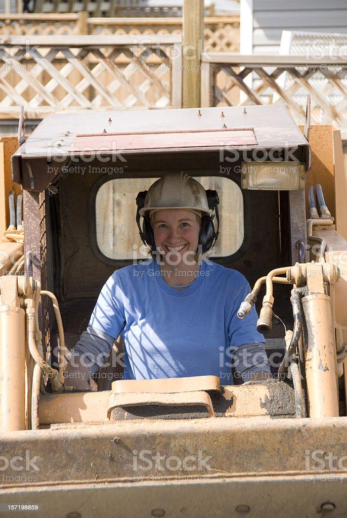 Female heavy equipment operator royalty-free stock photo