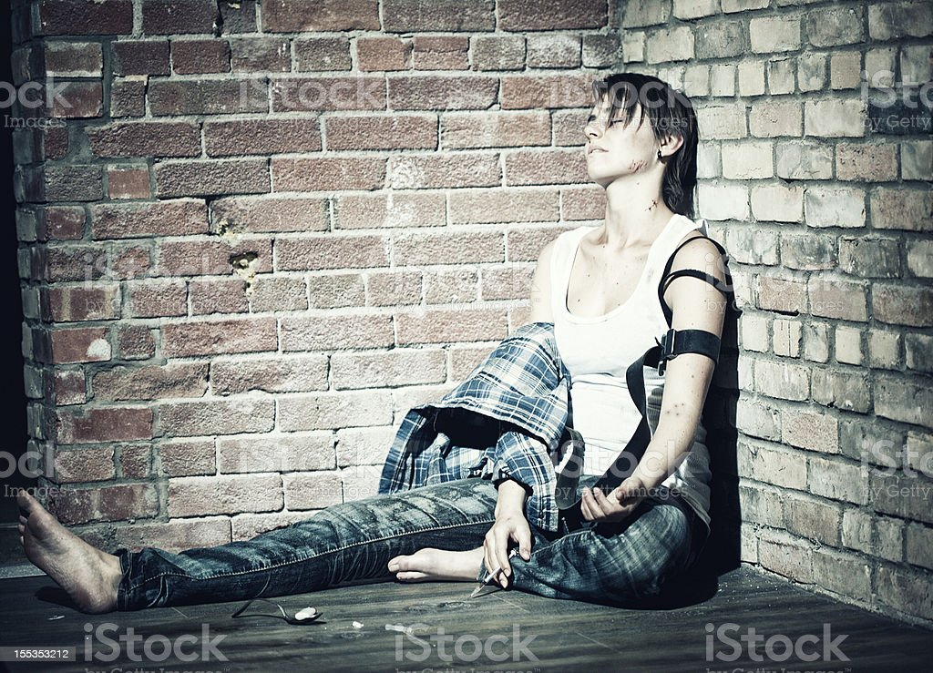 Female Heroin Addict stock photo