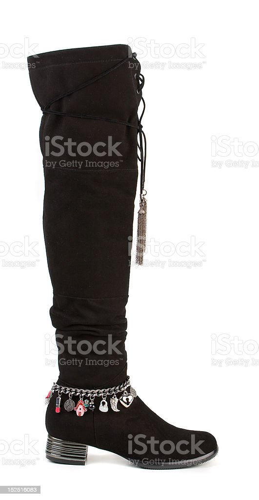Female high boot, isolated on white stock photo