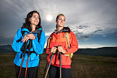 Female hikers
