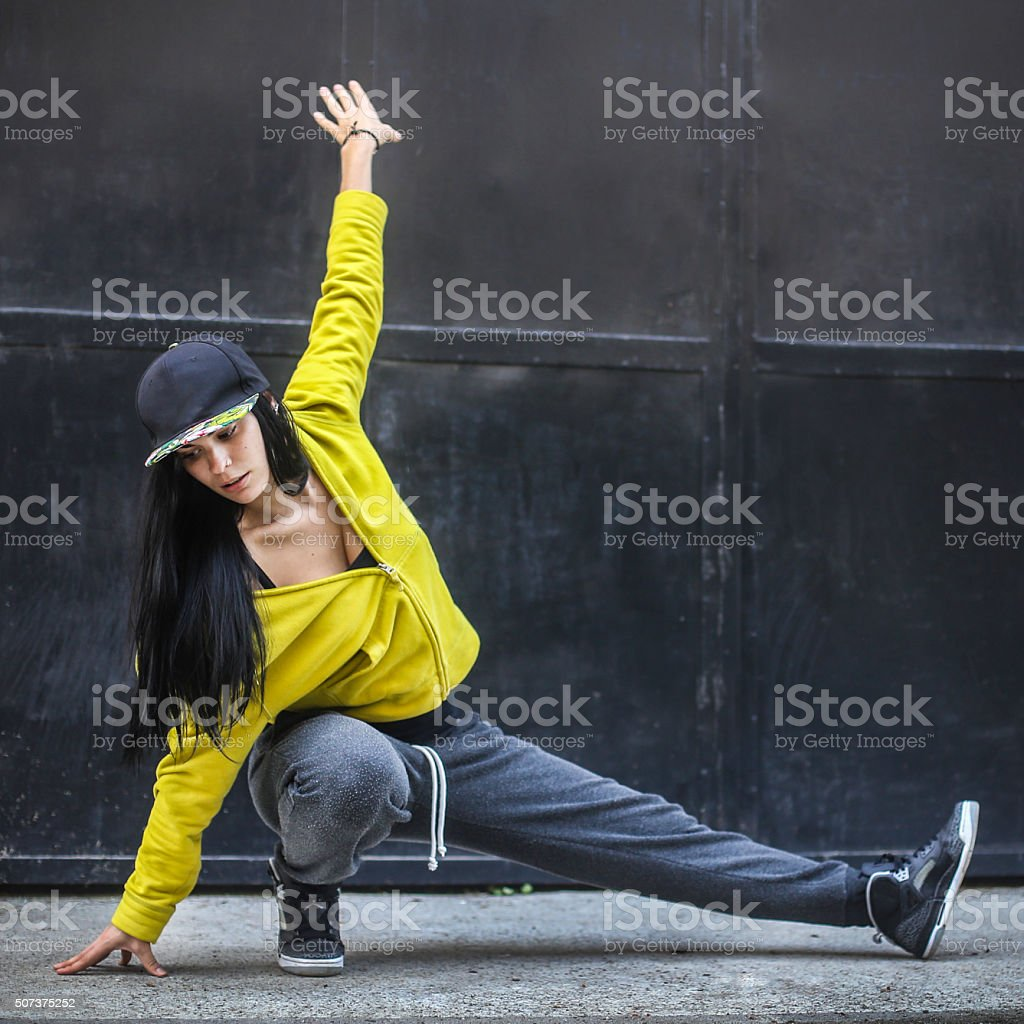 Female Hip-hop dancer stock photo