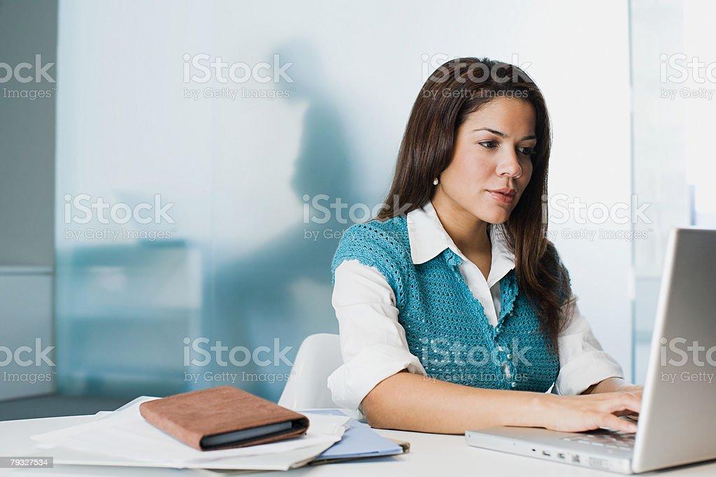 Female hispanic office worker royalty-free stock photo
