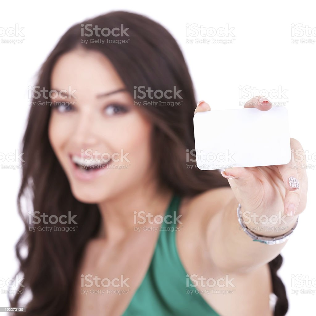 female holding credit card royalty-free stock photo