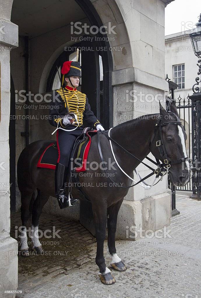 Female Horse Guard royalty-free stock photo