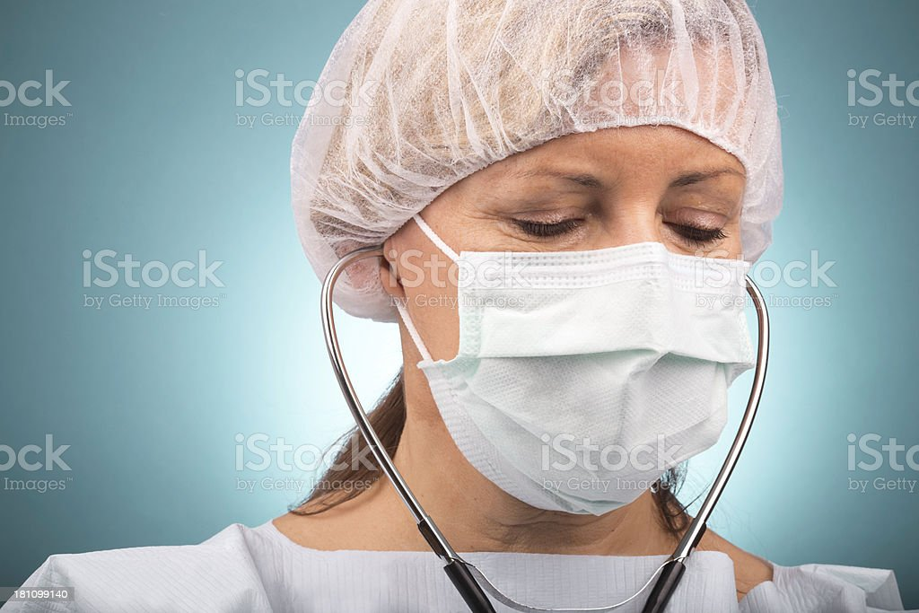 Female hospital doctor royalty-free stock photo