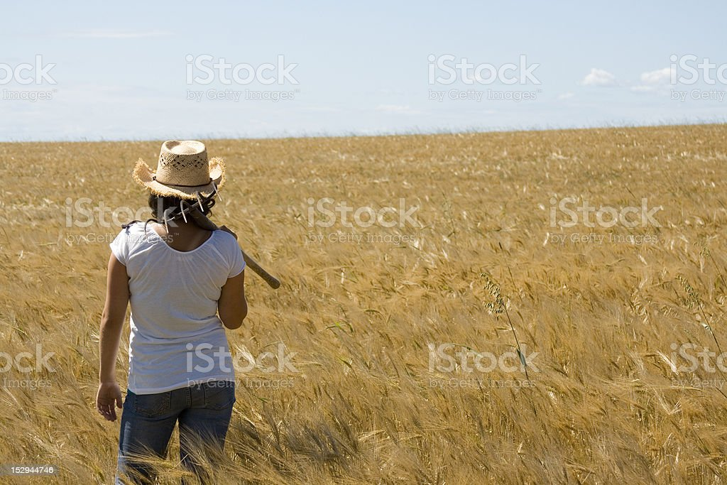 Female in Field stock photo