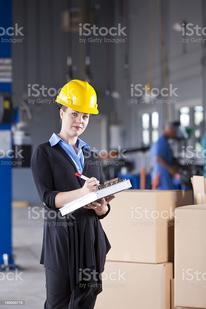 Female industrial lworker royalty-free stock photo