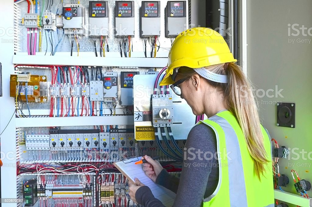 Female Inspector stock photo