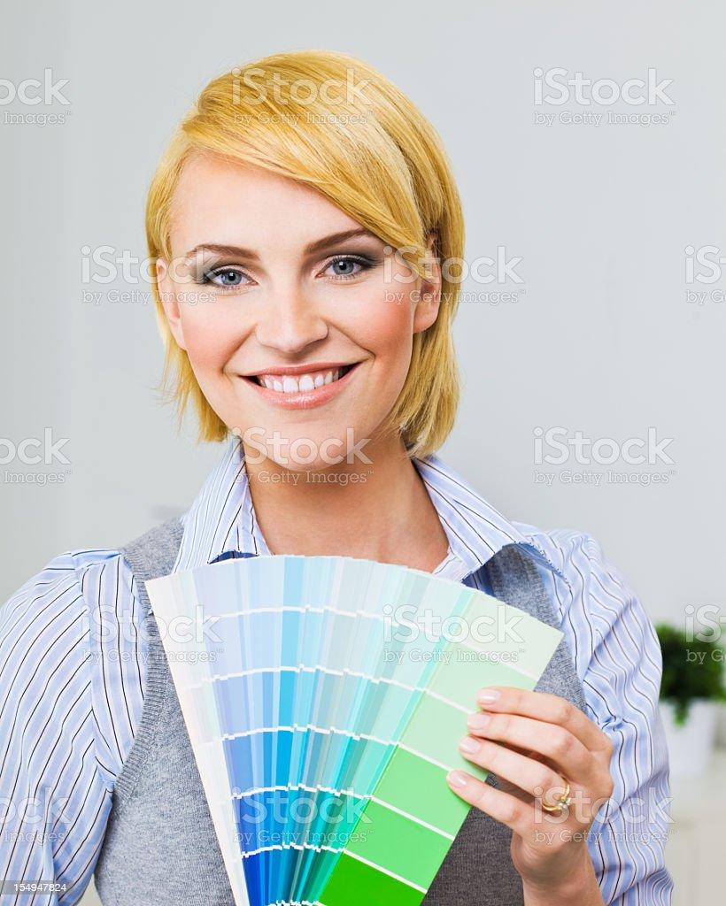 Female interior designer stock photo