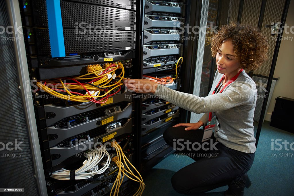 female IT engineer stock photo