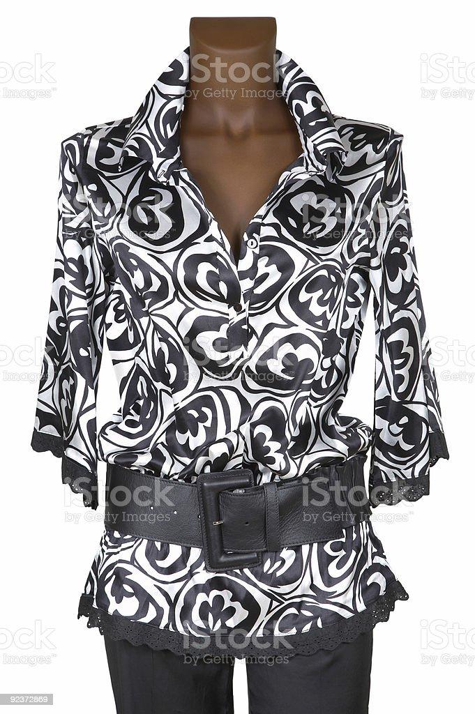 Female jacket and belt royalty-free stock photo