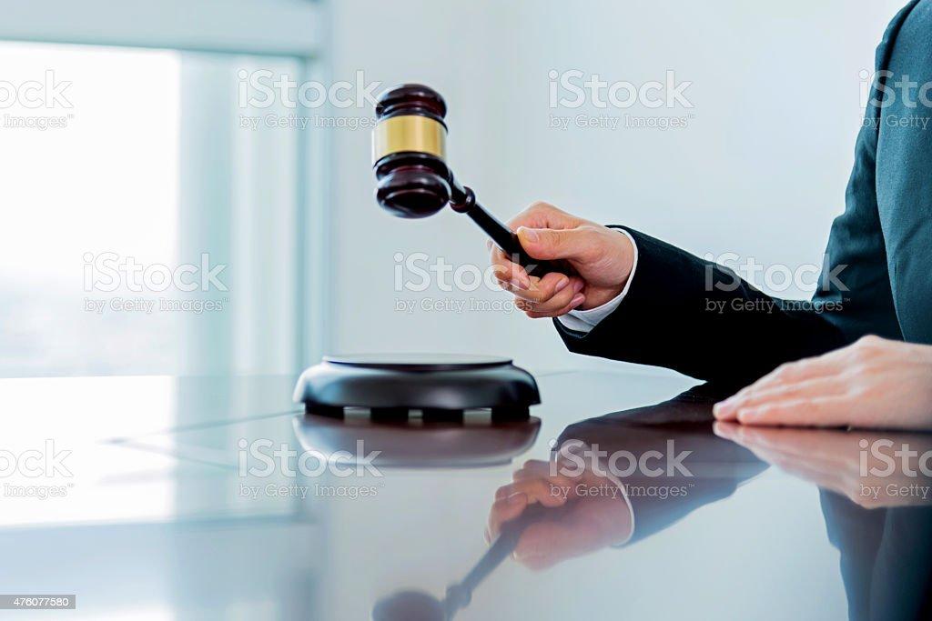 Female judge stock photo