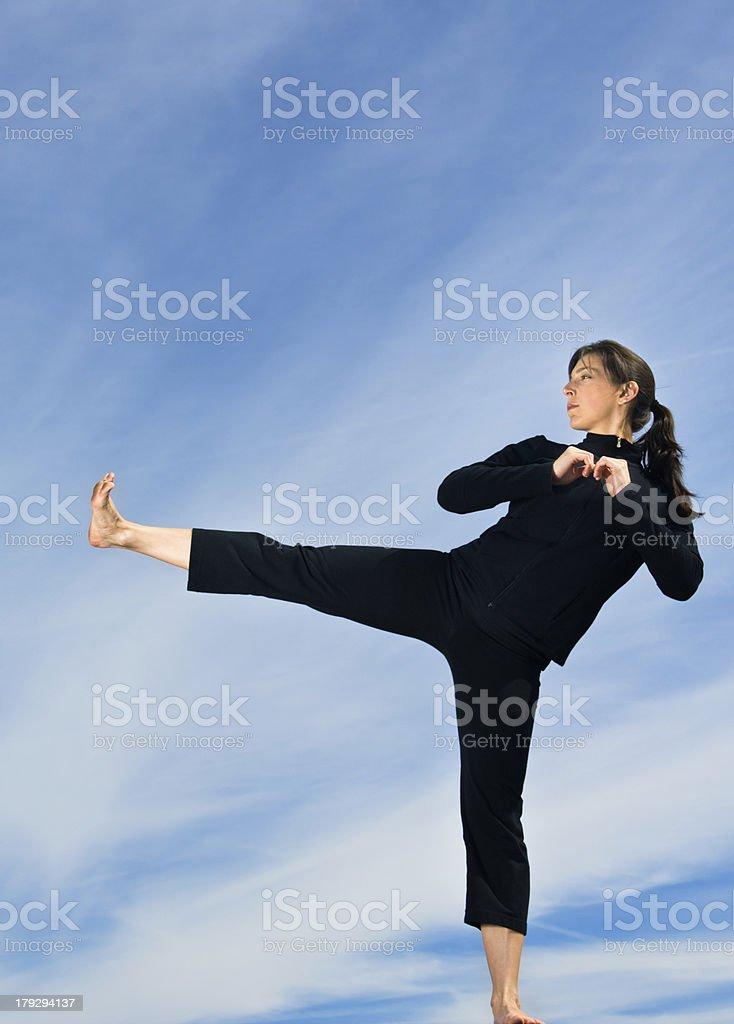 Female Kickboxer stock photo