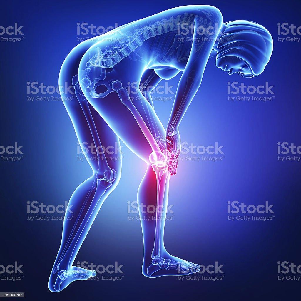 female knee pain royalty-free stock photo