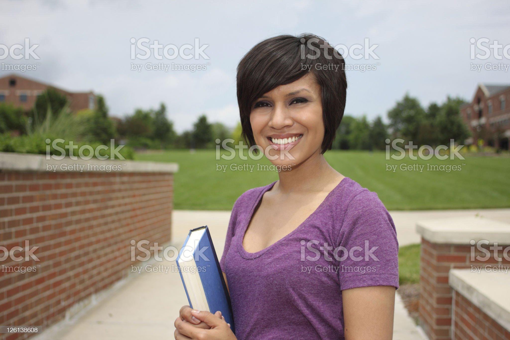 Female Latino student royalty-free stock photo