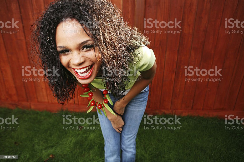 Female Laughing Portrait royalty-free stock photo